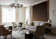 Designer Alyssa Kapito Shares Her Favorite Things – One Kings Lane — Our Style Blog Upper West Side Apartment, Old Apartments, Oak Panels, Oval Table, Gambrel, Paint Colors For Living Room, Architectural Digest, Grey Walls, Elle Decor