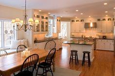 Kitchen open to dining area (Teakwood Builders)