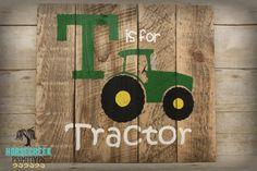 John Deere T is for Tractor Reclamied by HorsecreekPrimitives