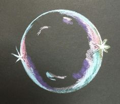 Wooley colored pencil tiny bubble