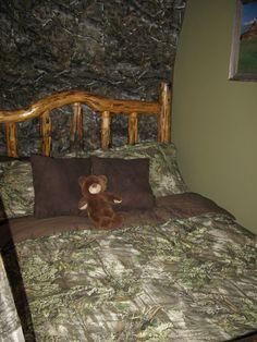 hunting deer chevron camo themed boy room moss green