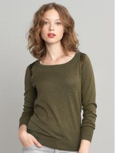 Banana Republic Sequin Shoulder Pulloever $69.50