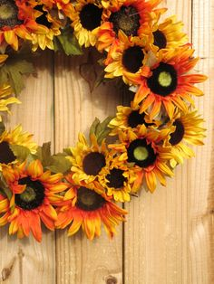 Sunflower Wreath Fall Wreath For Front Door by MaineMadeWreaths