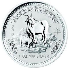 2003 series 1 - Australian Silver Lunar Goat Bullion Coin