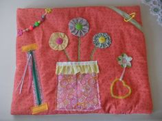 SOLD - Fidget Blanket Tactile Quilt for Alzheimer's, Dementia, Stroke, Autism - made by TheFairyFeltMother