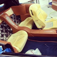 1967 chevelle custom interior in brown, door panels console