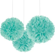 Robin's Egg Blue Fluffy Decorations - Party City (3 for $6.99)