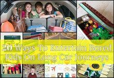 20 manieren om Bored kinderen te vermaken Op Lange autoritten