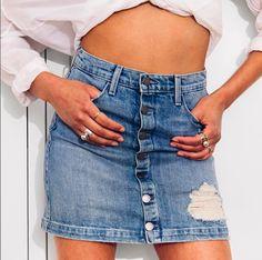 Denim Skirts for the Summer 👌🏼 Fidelity Denim Collette Mini Skirt 📷:https://www.instagram.com/conorgraham/