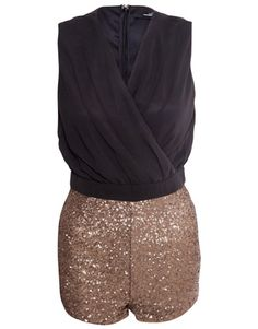 Miso Sequin Playsuit    £38.00