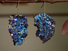 Bismuth Crystal Earrings Beautiful Colors by bismuthcrystalarts.