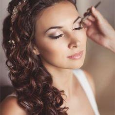 Bride's Hair Styled Wavy