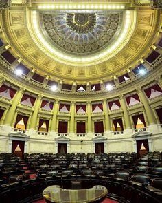 La cámara de diputados del Congreso de la Nación. Arq. Vittorio Meano.