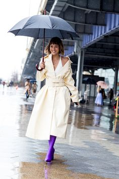 Attendees at New York Fashion Week Fall 2018 - Street Fashion