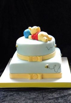 classic winnie the pooh baby shower cake - Google Search