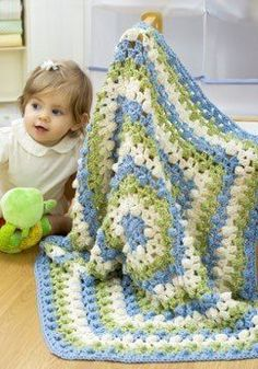 5-Side Baby Afghan Crochet Pattern | FaveCrafts.com