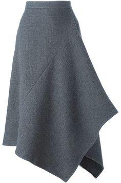 Stella McCartney asymmetric skirt seen in Sept. Harper's Bazaar