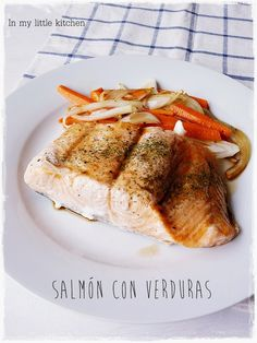 In my little kitchen: Salmón con verduras en estuche Lekue