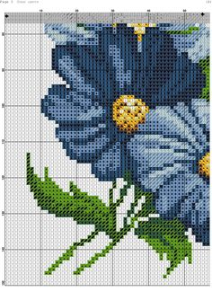 This Pin was discovered by neş Counted Cross Stitch Patterns, Cross Stitch Embroidery, Cross Stitch Flowers, Cross Stitching, Beading Patterns, Blackwork, Needlepoint, Needlework, Diy And Crafts