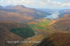 Kinlochewe,Loch Maree.Aerial photograph Scotland.Prints 18x12 £25 24x16 £35 same size on canvas ready to hang £60. Order via website www.scotaviaimages.co.uk