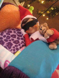 Elf on the Shelf sleepover