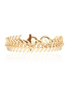 Gold Fishbone Bracelet