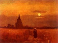 The Old Tower in the Fields Artist: Vincent van Gogh Completion Date: 1884 Place of Creation: Nunen / Nuenen, Netherlands Style: Realism Genre: landscape Technique: oil Material: canvas