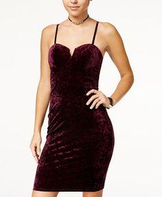 5280438cf726 Material Girl Juniors  Crushed-Velvet Bodycon Dress