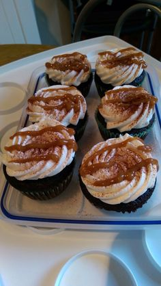 Vegan chocolate beer cupcakes with Irish whisky frosting & fig and caramel drizzle- recipe- Chloe coscarelli - desserts cookbook