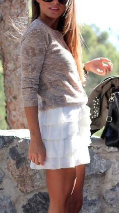 6b36ba10f6 pretty white skirt l wantering.com Fall Fashion Skirts