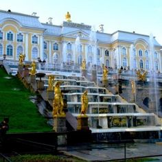 Grand cascade, Peterhof Palace, St Petersburg, Russia.