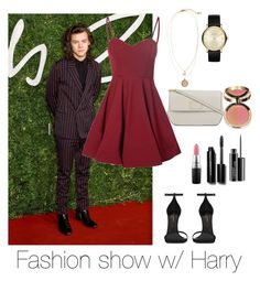 """""""Fashion show w/ Harry"""" by flowerpowerperrie ❤ liked on Polyvore featuring H&M, Marc by Marc Jacobs, Bobbi Brown Cosmetics, MAC Cosmetics, Yves Saint Laurent, Glamorous, women's clothing, women's fashion, women and female"""