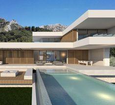 Flying House in Modern Villa Design - Modern Architecture Modern Architecture House, Architecture Design, Modern Villa Design, Modern Architects, Modern Mansion, Dream Home Design, Modern House Plans, Building Design, House Styles