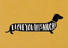 #Lovely unique dachshund sausage dog gift print #picture #quote i love you art wo, View more on the LINK: http://www.zeppy.io/product/gb/2/201473530008/