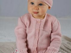 Ravelry: Abigail Cardi and Hat - Baby Cakes - pattern by Lisa Craig Baby Cardigan Knitting Pattern Free, Baby Knitting Patterns, Baby Patterns, Knit Baby Sweaters, Moss Stitch, Yarn Brands, Knitting For Kids, Baby Hats, Dress Gloves
