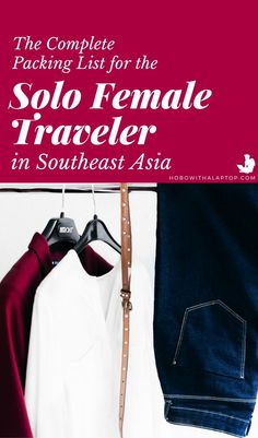 This complete Southeast Asia packing list for 'digital nomad girls' will help you figure out what it Travel Articles, Travel Advice, Travel Hacks, Budget Travel, Travel Guides, Travel Tips, Travel Destinations, Work Travel, Asia Travel