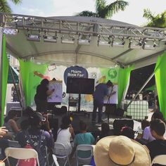 It's a #draw-off! Amy Ignatow vs Jeffrey Brown at #MiamiBookFair Chewbacca #dancing in #NY.