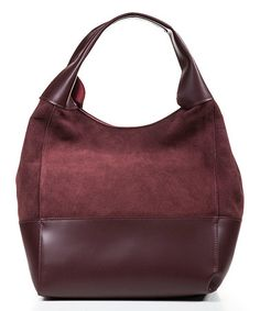 Look what I found on #zulily! Bordeaux Leather Hobo & Cosmetic Bag #zulilyfinds