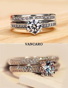 A pair of beautiful Vancaro Silver rings