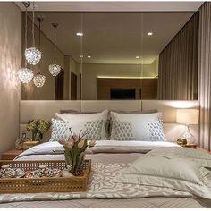 Boa noite . . . #apartamento #apartamentopequeno #home #quartodecasal #decoracao #inspiração #vidaadois