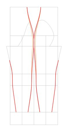 detailed guide to drafting a pattern for stretchy leggings.