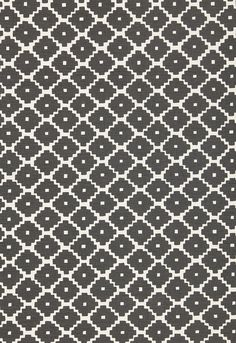 F-Schumacher Ziggurat-Charcoal 174480 Luxury Décor Fabric -
