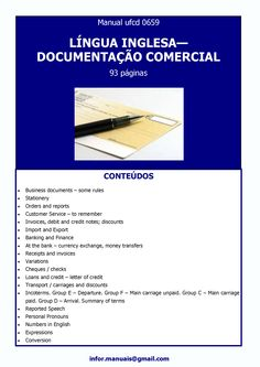 ufcd 0659 - Língua inglesa - Documentaçao comercial