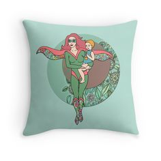 """""""Alter Ego"""" Throw Pillows by micklyn 