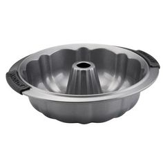 Anolon Advanced Bakeware - 9.5 Inch Fluted Mold Pan #54714 - Anolon.com.  The Anolon fluted cake pan helps bakers create beautiful, distinctive molded pound cakes, coffee cakes, and more, and is designed to make baking easier and more efficient, while measuring up to the high standards of serious bakers.
