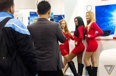 Why can't CES quit boothbabes? At this year's CES, women in tight skirts are back on the floor — but the booth bro and booth bot are catchi...