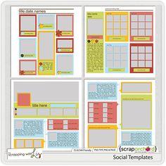 social network scrapbook templates