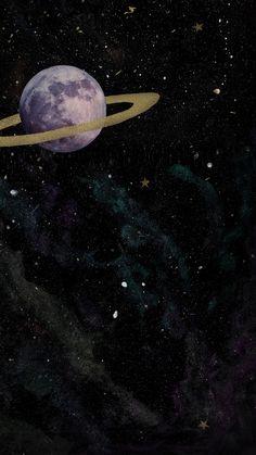 ☾ by StarChildArtStudio Space Phone Wallpaper, Planets Wallpaper, Homescreen Wallpaper, Dark Wallpaper, Galaxy Wallpaper, Black Aesthetic Wallpaper, Aesthetic Backgrounds, Aesthetic Iphone Wallpaper, Aesthetic Wallpapers