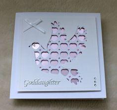 Handmade Goddaughter Christening Card by mandishella