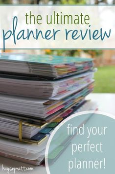 The Ultimate Planner Review - comparing all of today's popular daily & weekly planners to find YOUR best fit! - http://KaysePratt.com